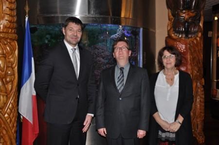 2015-12-16 Visite de Pierre Thomas délégué gal OM  Ville Paris