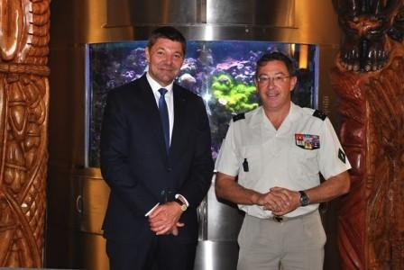 2018-06-18 Accueil général de division Thierry MARCHAND, commandant supérieur FANC