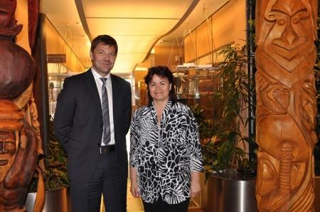 Angelina Bonno, chef du service de la délégation à la PF